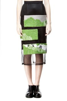 embroidered skirt by Atelier Kikala #fashion