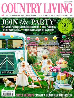 Country Living magazine June 2015 cover countryliving.co.uk