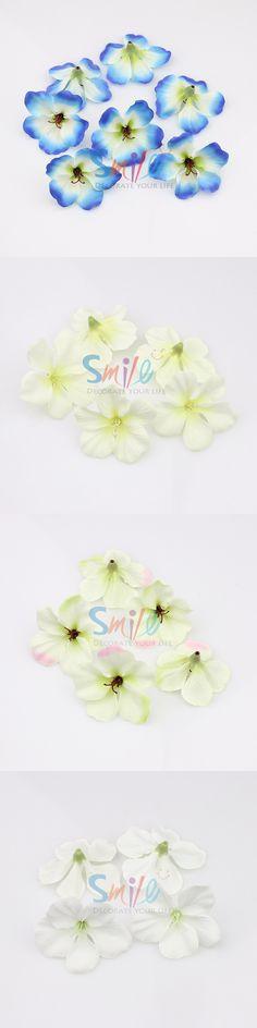 200pcs/lot spring Silk Orchid Artificial Flower heads ,Gladiolus Cymbidium Flowers for Wedding Decoration