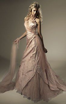 Garamaj silk sample wedding dress dusky pink with ruffle collar Wedding Dresses With Flowers, Colored Wedding Dresses, Floral Wedding, Affordable Wedding Dresses, Wedding Dresses For Sale, Dusky Pink Weddings, Pink Color, Colour, Ruffle Collar