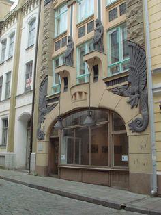 Art Nouveau building in Tallinn (architect Jacques Rosenbaum, completed 1910), Estonia