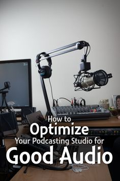 "How to Optimize Your Podcasting Studio for Good Audio Whatever space you use for might need a little work on the acoustics to help your sound better. Here are 6 tips to get you started improving your ""studio"" for audio. Podcast Setup, Podcast Tips, Marketing Digital, Content Marketing, Mobile Marketing, Marketing Plan, Inbound Marketing, Media Marketing, Cover Art"