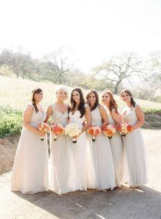 LOVE the style of these bridesmaid dresses!!!