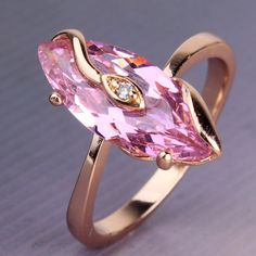 'Size 5/J 18K GF Marquise pink sapphire ring' is going up for auction at 10am Sun, Nov 4 with a starting bid of $8.