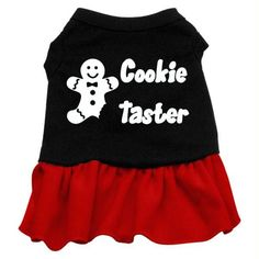 Cookie Taster Screen Print Dress Black with Red XXXL (20)