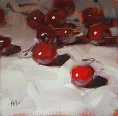 """Cherry Crowd - SOLD"" - Original Fine Art for Sale - © Carol Marine"