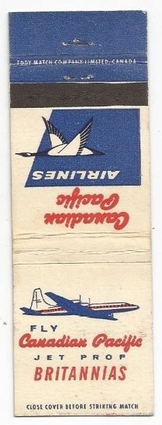 Canadian Pacific 1940's #matchbook cover To order your business' own logo #matches GoTo GetMatches.com