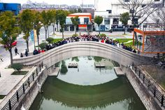 World's longest 3D-printed concrete bridge opens across canal in Shanghai