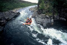 River rafting: go with the flow in Finnish Lapland. Photo by Lapland - The North of Finland. Lapland Finland, Rafting, Scenery, Europe, Boat, Culture, Landscape, Country, Flow