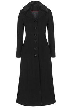 Top Stitch Maxi Coat; Longtallsally.com