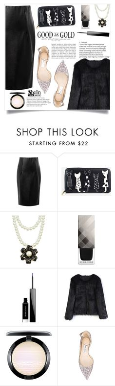 """Love Story"" by violet-peach ❤ liked on Polyvore featuring Burberry, Givenchy, Chicwish, MAC Cosmetics and Jimmy Choo"