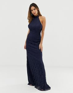 Find the best selection of Liquorish halterneck maxi dress with lace overlay and trim detail. Shop today with free delivery and returns (Ts&Cs apply) with ASOS! Pop Fashion, Fashion Trends, Asos Dress, Lace Overlay, Overlays, Fashion Online, Lace Dress, Detail, Ruffles