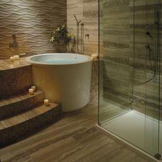 MTI tubs image-8 Japanese Bathtub, Japanese Soaking Tubs, Small Tub, Small Bathroom, Bathroom Ideas, Bathroom Mirrors, Bathroom Cabinets, Minimal Bathroom, Marble Bathrooms
