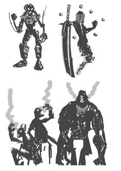 - Steam Punk Security-Guard  - Ethereal Sword Master  - A 'vicious' bunch.