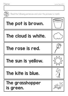Spring Kindergarten Math and Literacy Worksheets & Activities No Prep - My Winter Break 2020 English Worksheets For Kindergarten, Free Kindergarten Worksheets, Kindergarten Reading, Reading Comprehension Worksheets, Word Families, Printable Numbers, Printable Worksheets, Free Printable, Guided Reading