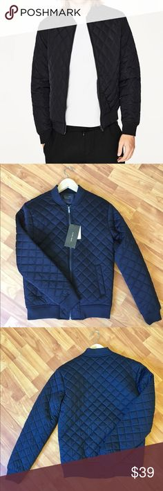 Zara Man - Quilted Bomber Jacket Puffer bomber jacket with zipper fastening, fitted cuffs and hem, along with open exterior pockets. Zara Jackets & Coats Puffers
