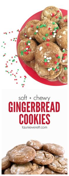These soft, chewy gingerbread cookies are super-simple to make. There is only one spice and they require no molasses, but taste just like a traditional recipe!