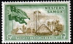 Samoa 1952 SG 220 Native Huts and Flags Fine Mint                 SG 220 Scott 204 Other Commonwealth Stamps here. Just click the image