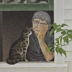"""Alex Colville (Canadian, 1920 - 2013) - """"August"""", 1979 - Photolithograph on wove paper, from the portfolio """"A Book of Hours: Labours of the Months"""" - National Gallery of Canada, Ottawa"""