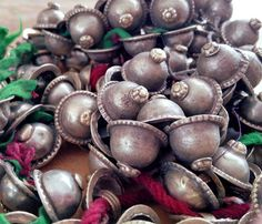 Turkoman Buttons Tribal Turkmen Metal Shank Dome Button Belly Dance Fusion ATS Costuming Supply