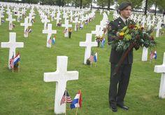 Herdenking Margraten, begraafplaats van Amerikaanse soldaten