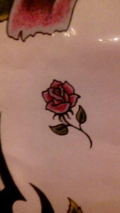 tiny rose flash tattoo