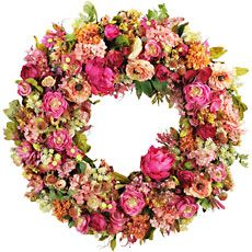 Product Detail : 28'' Zinnia Mixed Wreath
