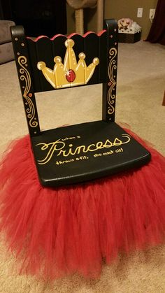 Princess Timeout Chair for our Granddaughter.  Will also be doing a Prince one to match. All Handpainted.