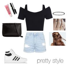 """""""serenay style"""" by demet-baysal ❤ liked on Polyvore featuring beauty, Topshop, adidas Originals and Lancôme"""