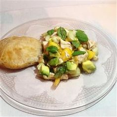 "Minty Peach Chicken Salad Allrecipes.com    ""Lady Food"""