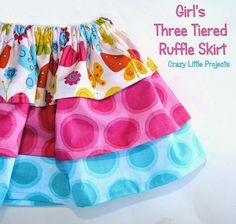 3 Tier Gathered Skirt- Pattern