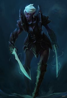 Night Elf warrior by KillerC While most night elves seem to show...