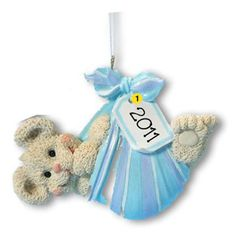 Personalized Baby's First Christmas Ornament Baby Bear Bundle- Boy Newborn, Baby Shower Gift Gift Tag on Etsy, $10.99