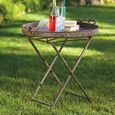 Rustic Bird Tray Folding Table  Can always use another table
