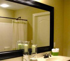 Frame a Bathroom Mirror.  I want to do this in my bathroom.