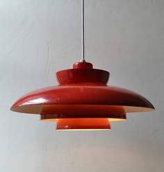Danish Modern Lamp/Light 1960s Space Age Mid Century UFO Red Vintage Eames Mod | eBay