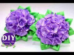 Master-class Kanzashi. DIY. Needlework. Scrunchy Kanzashi. Flowers Kanzashi. - YouTube