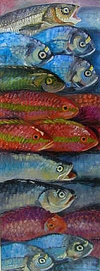 Nancy Murgatroyd  Maybe I should rename this board fun fish art as there's a lot of art here that isn't very weird.
