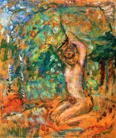 Small Nude, Arms Raised, in a Landscape / Pierre Bonnard - circa 1907