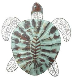 Turtle Wall Decor regal art & gift flower wall decor, purple, 9-inch. floral home