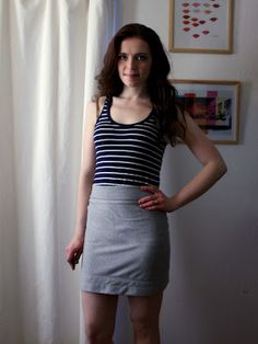 Adventures in Dressmaking: Sewing Circle: Is there a pattern for a super simple knit skirt?
