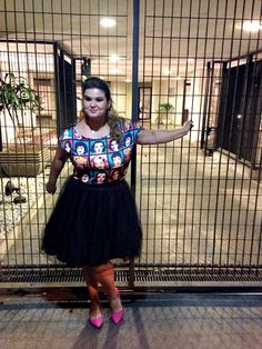 ChicaBolacha OOTD  Andy Warhol shirt + tulle skirt  #plussize #fatshion #modaplussize #modaplus #lookdodia  www.grandesmulheres.com.br