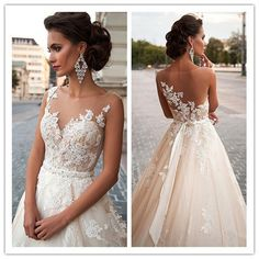 Wedding Dress,Lace Wedding Dress,Lace Bridal Gowns, Long Sleeves Bridal Gowns,Plus Size Wedding Bridal · MakerDress · Online Store Powered by Storenvy Lace Bridal, Tulle Wedding Gown, Wedding Dress Necklines, 2016 Wedding Dresses, Wedding Dress Sleeves, Bridal Dresses, Bridesmaid Dresses, Illusion Neckline Wedding Dress, Dresses 2016