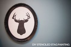 http://www.lovelyindeed.com/2011/diy-stenciled-stag-painting/