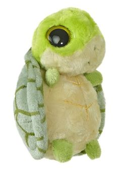 """5"""" SHELBEE is a bright green stuffed tortoise that giggles when squeezed! The popular YooHoo & Friends line is based on animals from around the world (many of which are rare and endangered). Each YooH #interesting Hashtags: #Majestic #endangered"""