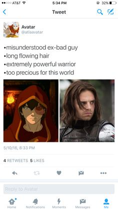 Zuko/Bucky Barnes comparison from @atlaavatar on Twitter