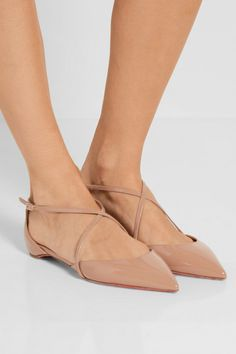 Slight heel Sand patent-leather Buckle-fastening ankle strap  Designer color: Nude Made in ItalyLarge to size. See Size & Fit notes.
