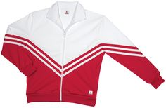 This classic cheerleading warmup jacket is a great sideline warmup look for your squad. Wear this cheer warmup top for a sporty look on the sideline.