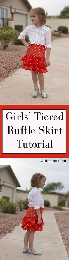 Make this cute ruffle skirt for your little girl or for yourself!  A simple sewing tutorial with easy instructions and step by step photos.  The perfect summer DIY!