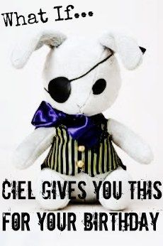 Black Butler- Funtom Company Bitter Bunny Plushie/Stuff Animal  If he really did, i would be so happy i would implode!